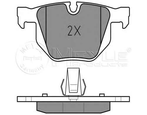Комплект тормозных колодок, дисковый тормоз BMW 34 21 6 763 043