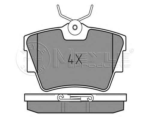 Комплект тормозных колодок, дисковый тормоз MEYLE 025 239 8017