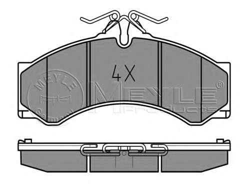 Комплект тормозных колодок, дисковый тормоз MEYLE 025 290 7620