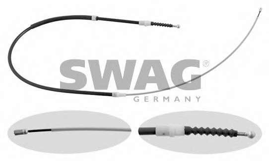 Трос, стояночная тормозная система SWAG 30 93 0766