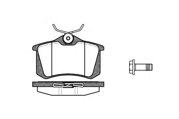 Комплект тормозных колодок, дисковый тормоз ROADHOUSE 2263.05