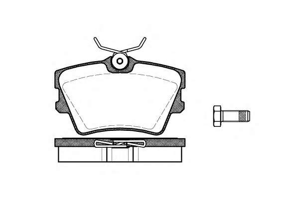 Комплект тормозных колодок, дисковый тормоз ROADHOUSE 2591.00