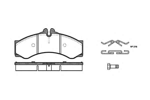 Комплект тормозных колодок, дисковый тормоз ROADHOUSE 2614.00