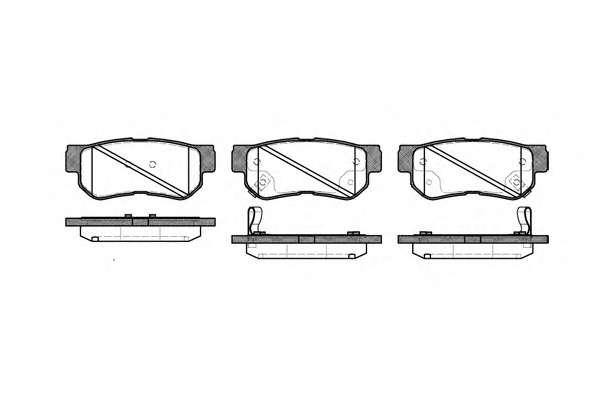 Комплект тормозных колодок, дисковый тормоз ROADHOUSE 2746.32
