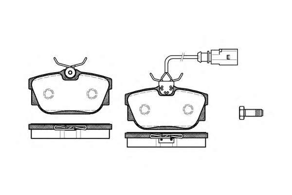 Комплект тормозных колодок, дисковый тормоз ROADHOUSE 2767.01