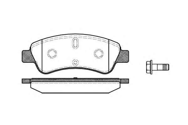 Комплект тормозных колодок, дисковый тормоз ROADHOUSE 2840.10