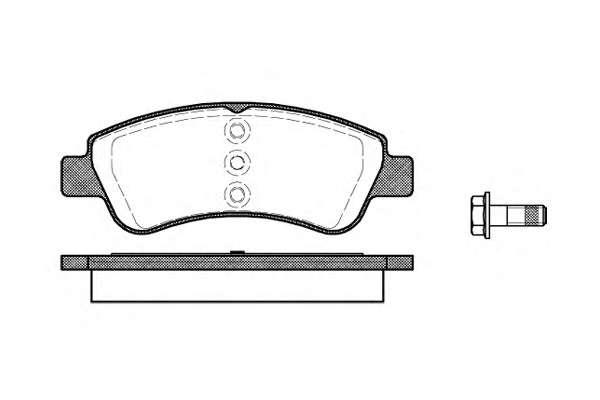 Комплект тормозных колодок, дисковый тормоз ROADHOUSE 2840.20