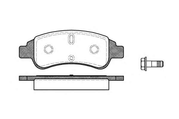 Комплект тормозных колодок, дисковый тормоз ROADHOUSE 2840.30