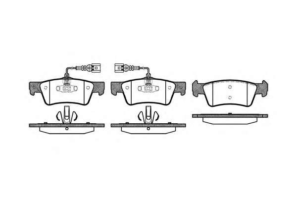 Комплект тормозных колодок, дисковый тормоз ROADHOUSE 21187.02