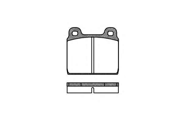 Комплект тормозных колодок, дисковый тормоз REMSA 0002.00