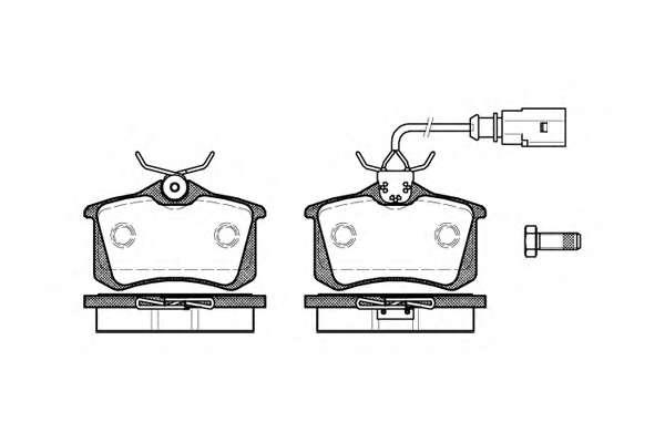 Комплект тормозных колодок, дисковый тормоз REMSA 0263.51