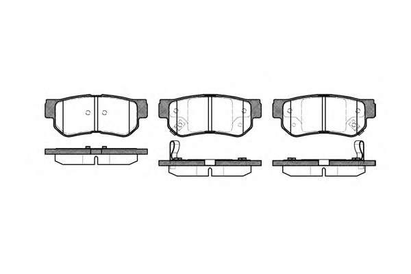 Комплект тормозных колодок, дисковый тормоз REMSA 0746.02