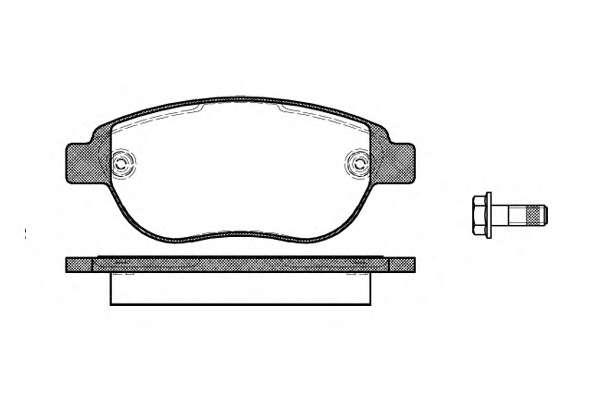 Комплект тормозных колодок, дисковый тормоз REMSA 0841.00
