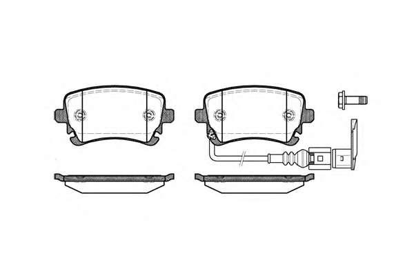 Комплект тормозных колодок, дисковый тормоз REMSA 0897.11